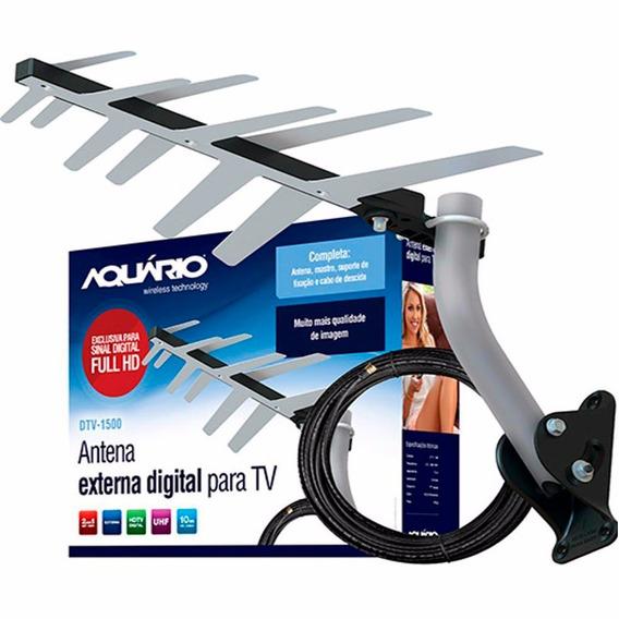Antena Externa Digital Aquário+acessórios Aquário - Dtv-1500