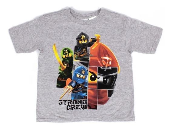 Playera Para Niño Lego Estampado Ninjago Team Ninjas Furia