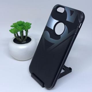 Protector Diseño Superman Black Para iPhone 6 / 6s