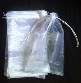 75 Sacos De Organza Branco 15x25 Cm Para Copo Ou Caneca