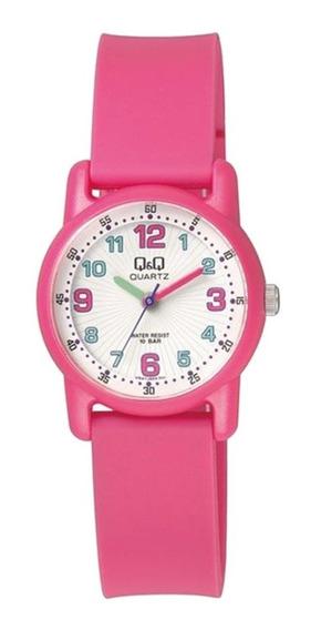 Relógio Q&q Infantil Feminino Rosa À Prova D