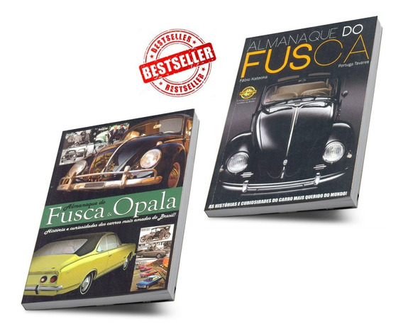 Almanaque Do Fusca Best Seller Histórias Curiosidades 2 Vols