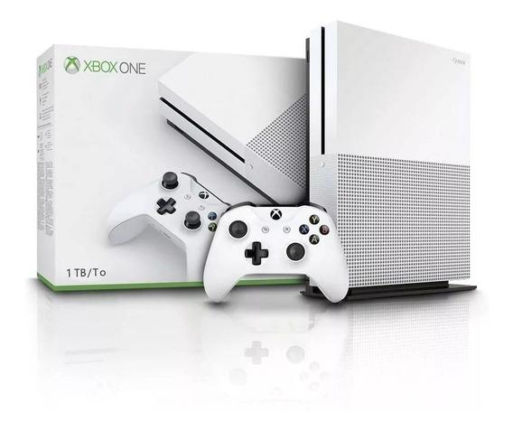 Console Xbox One S 1tb Branco 1 Controle Com Nota Fiscal