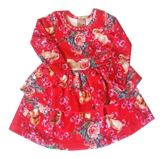 Roupa Infantil Vestido Kiki Xodó Coleção Inverno Atacado