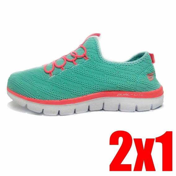 2x1 Tenis Deportivos Zapatillas Skechers Mujer Dama Mujer