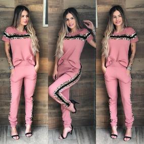 333e7759a Conjunto Blusa E Calca Liganete - Calçados, Roupas e Bolsas Rosa no ...