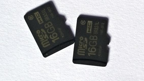 2 Cartões De Memória Micro Sdhc 16 Gb