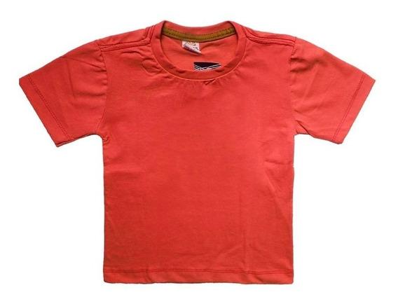 Kit 10 Camisa Lisa Infantil Com Manga Algodão Melhor Preço