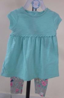 Vestido Carters Para Bebe Niña 2 Piezas 18 Meses