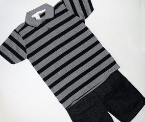 Conjunto Masculino Infantil Camisa Polo E Bermuda Marisol
