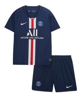 Kit Infantil Paris 2020 - Neymar, Mbappe, Cavani, Marquinhos