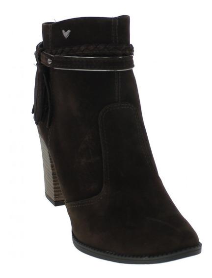 Bota Mississipi X7682 Ankle Boots Salto Camurça