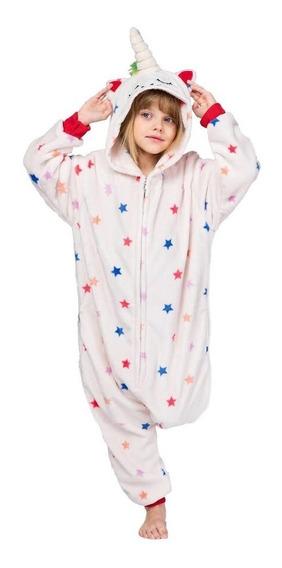 Mameluco Pijama Unicornio Beige Estrellas Infantil Envío