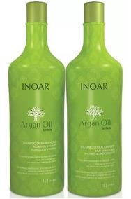 Kit Salão Argan Inoar Oil Litro - Shampoo + Condicionador