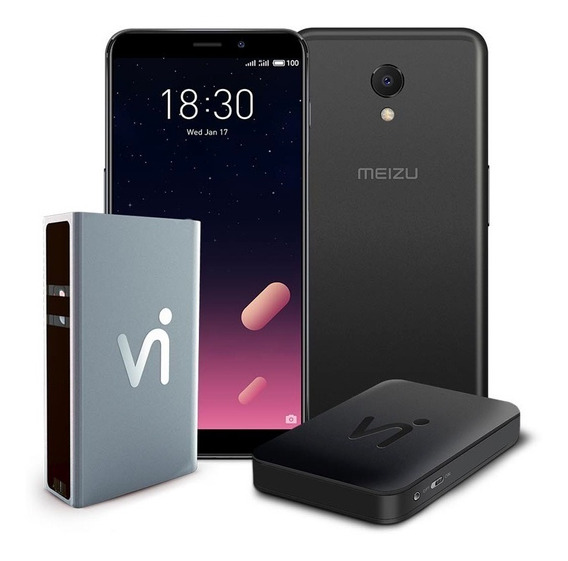 Phonestation Meizu M6s Preto, Tela 5,7, 64gb, Proc. Exynos