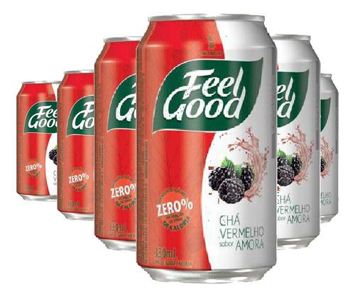 Imagem 1 de 3 de 6x Chá Vermelho Com Amora Feel Good 330ml
