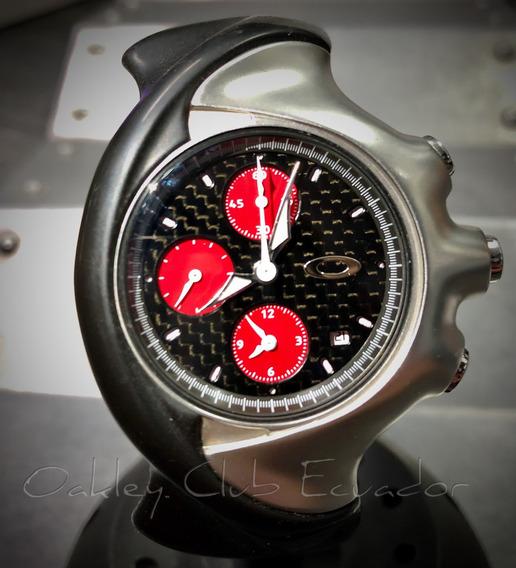 Reloj Oakley Detonator, Dial Fibra Decarbono, Cronógrafo