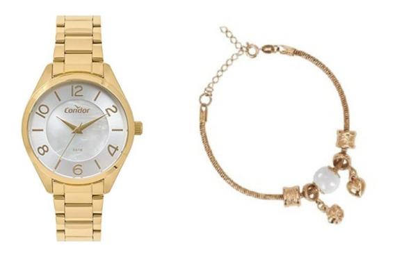 Kit Relógio Condor Feminino Co2036kwu/k4b