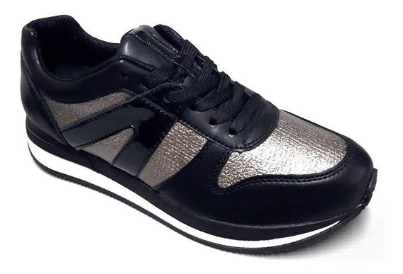 Zapatillas Mujer Piccadilly Con Cordones Casual 973019