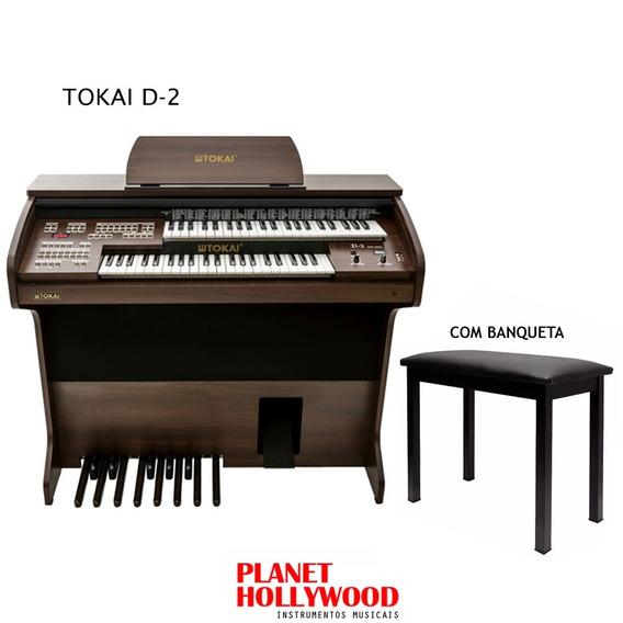 Órgão Eletrônico Tokai D2 C/ Tampa + Banqueta + Capa 1 Ano