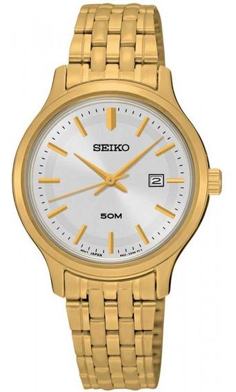 Relógio Seiko Feminino Dourado Prova Dágua Barato Sur792b1