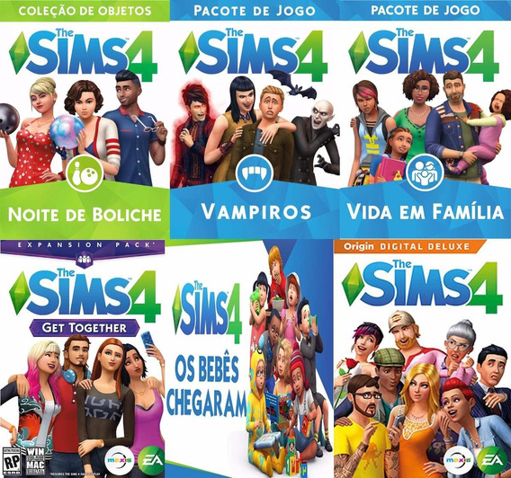 Game The Sims 4 Para Pc Base Com Todas Dlc´s 2019