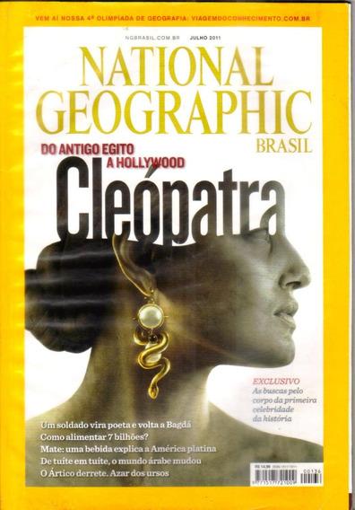 Revista National Geographic Egito Cleópatra - Julho 2011