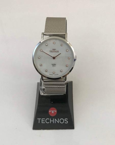 Relógio Technos 2025ltl/1b Aço Classic Slim Vidro De Safira