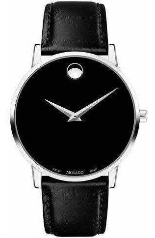 Relógio Movado Masculino Couro Preto - 0607269