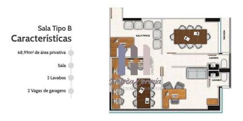 Sala À Venda, 68 M² Por R$ 726.646,37 - Tirol - Natal/rn - Sa0052