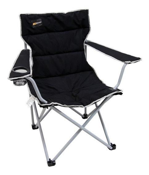 Cadeira Dobrável Boni Preta Camping Pesca Nautika + Bolsa