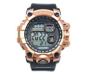 Relógio Digital Preto E Bronze