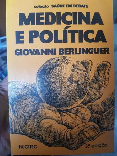 Medicina E Política - Libro En Portugués - Giovanni Berlingu