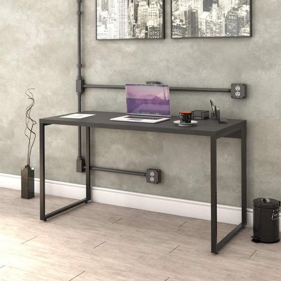 Mesa Para Escritório Office Estilo Industrial 135cm Bg