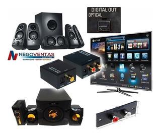 Convertidor De Audio Optico Toslink Coaxial A Rca Analogico