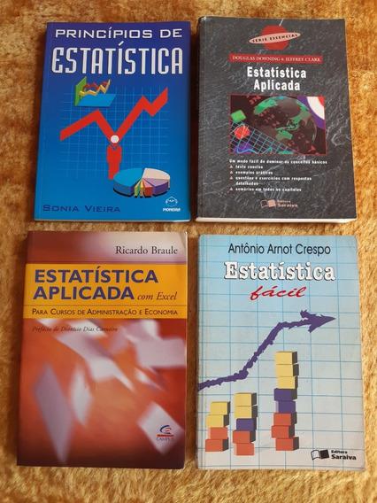 Lote De Livros De Estatística Aplicada,