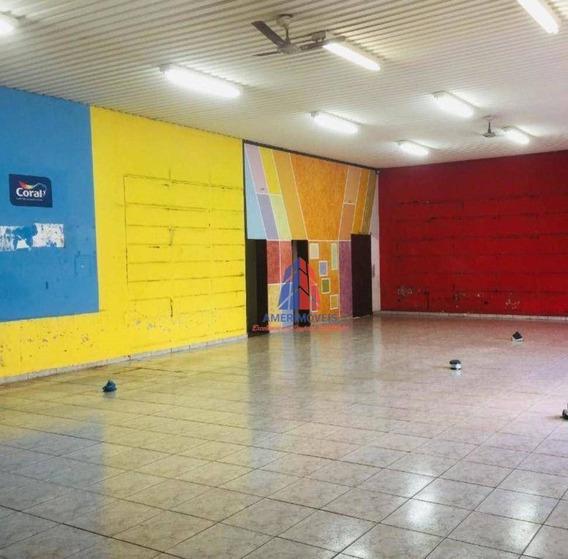 Salão Para Alugar, 338 M² Por R$ 6.000/mês - Vila Rehder - Americana/sp - Sl0054