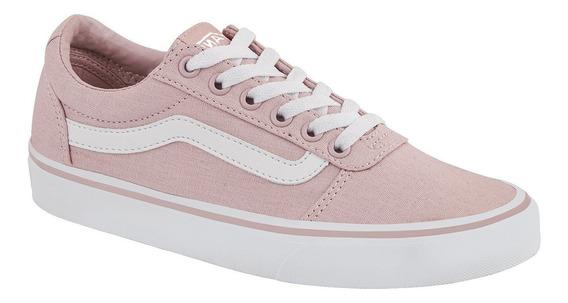 Tenis Sneakers Mujer Vans Urbano Rosa Old Skool Tela