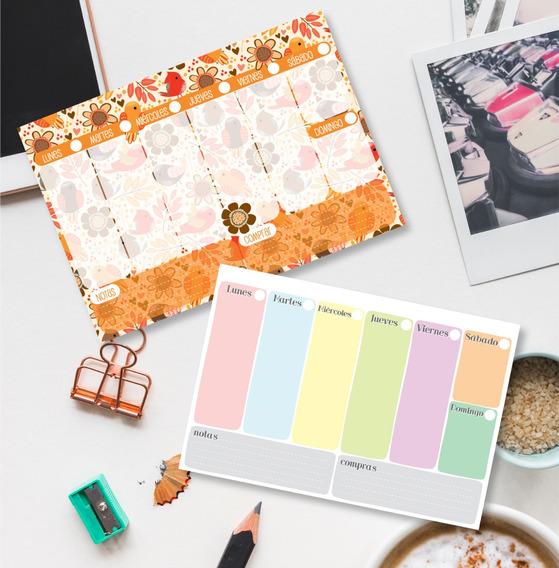 Organizador / Planificador Semanal Imprimible Weekly Planner