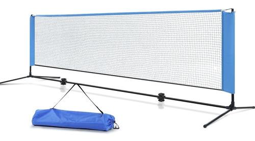 Imagen 1 de 8 de Kit Red Fútbol Tenis 4.m Desarmable Soportes Parantes Bolso