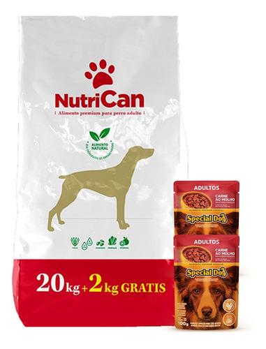 Imagen 1 de 3 de Nutrican Adulto 20+2kg + Regalo + Envío!!