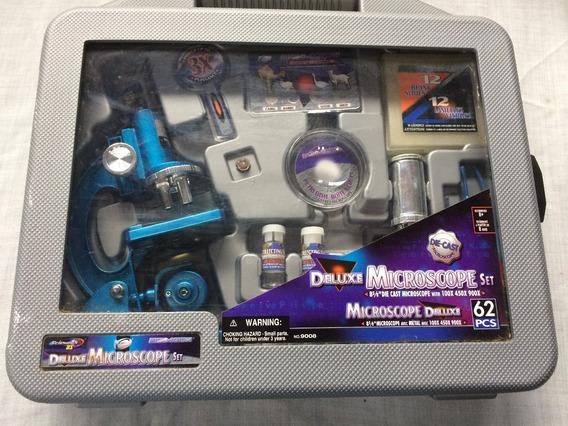 Microscópio Maleta Deluxe Completo 62 Peças