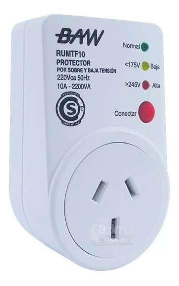 Protector Alta Y Baja Tension Enchufable Baw 10a 220v