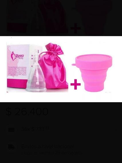 Copa Menstrual Aneer Certificada Fda + Vaso Esterilizador