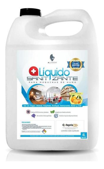 Líquido Sanitizante Alienpro Para Maquina De Humo 4l - S002