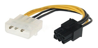 Cable Adaptador 1 Molex A 1pci E 6 Pines Para Placas D Video