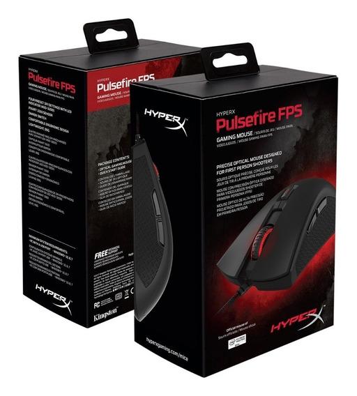 Mouse Óptico Usb Gamer Pulsefire Preto Hyperx