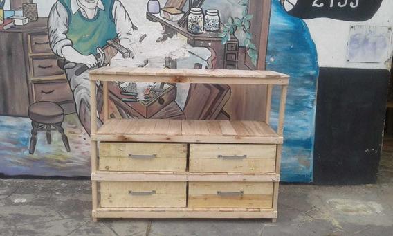 Mueble Organizador De Madera Recuperada Ideal Farmacia Bar