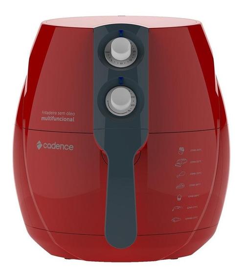 Fritadeira sem óleo Cadence FRT5 Perfect Colors vermelha 110V