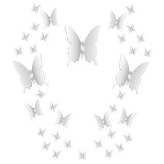 Bbto 36 Piezas Diy Espejo Mariposa Combinacion 3d Espejo Peg